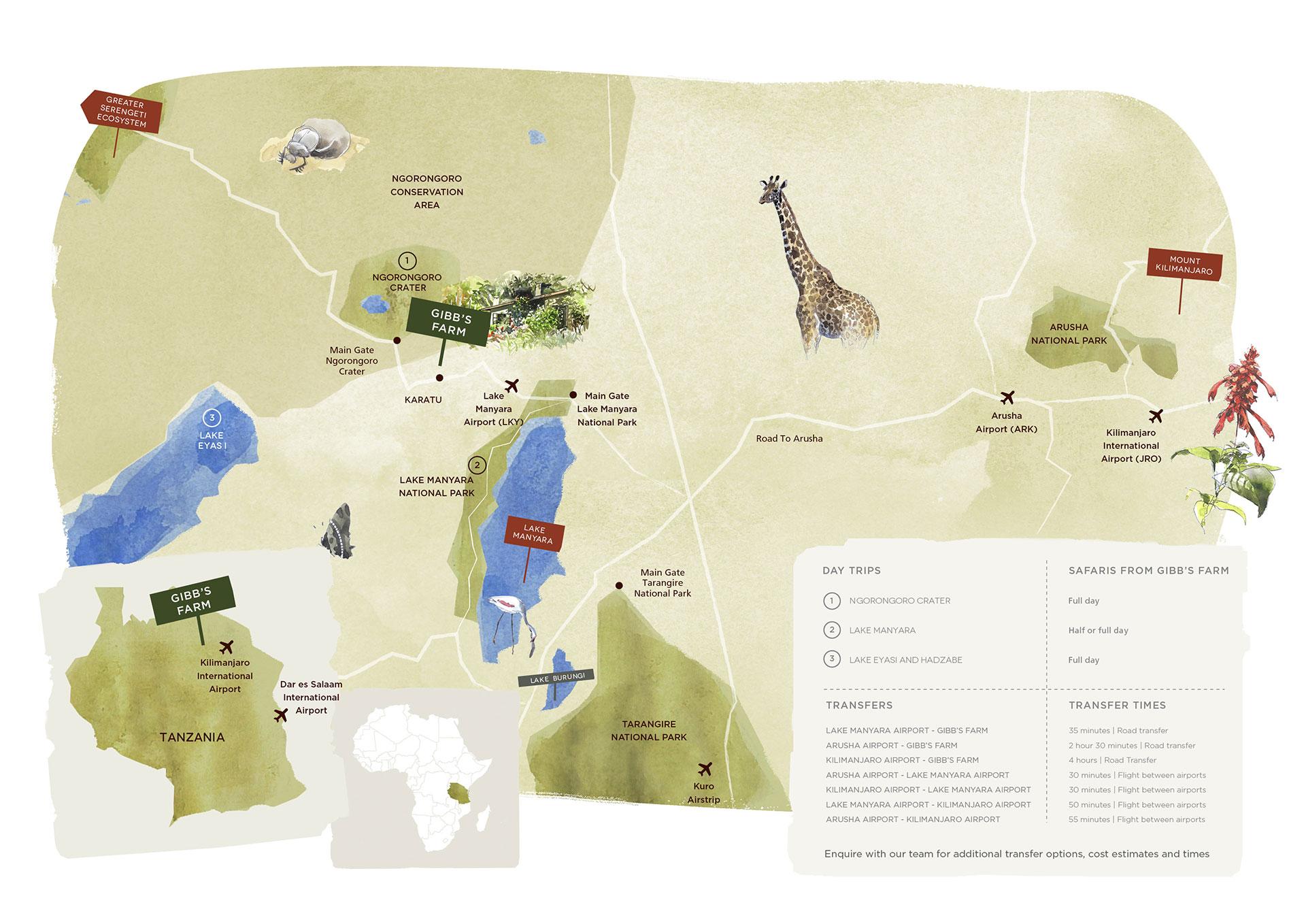 A map of gibbs farm